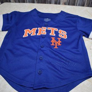 New York Mets Toddler 2T Jersey Shirt MLB Blue